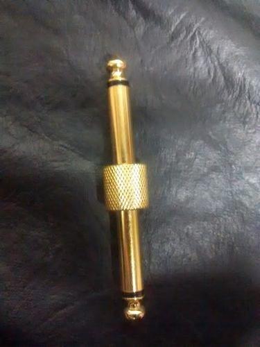 Plug Conector Pedais P10 Reto Adaptador P10 - Ouro