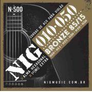 Cordas Nig Violão Aço N500 - Bronze - .010/.050