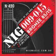 Cordas Nig Violão Aço N490 - Bronze - .009/.045