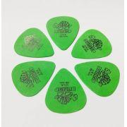 Palheta Tortex 0,88 Mm Dunlop - Kit C/ 6 Un Verde