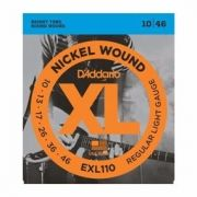 Corda Para Guitarra 010 Nickel D`Addario Exl110 Regular Light 10-46.
