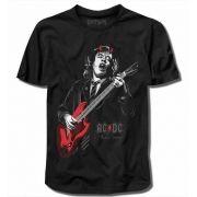 Camiseta AC/DC Angus Young Preta