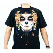 Camiseta Catrina Preta