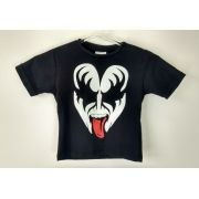 Camiseta Infantil Banda De Rock Kiss Gene Simons