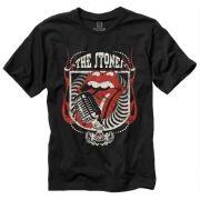 Camiseta Rolling Stones Microfone Preta