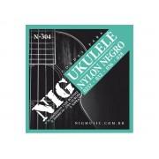 Corda / Encordoamento Nig N304 Ukulele Soprano Nylon Preto