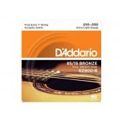 Corda / Encordoamento Violão Aço D'Addario .010 EZ900-B