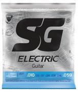 Corda Guitarra 010 SG Níquel 7 Cordas + Corda Extra + Palheta de Brinde