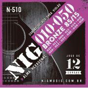 Corda Nig para Violão 12 Cordas -  Aço - 010 / 050  N-510