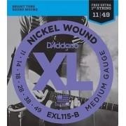 Corda para Guitarra D'Addario  EXL115B Nickel 11-49