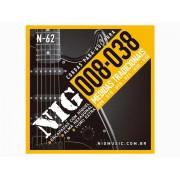 Cordas / Encordoamento Nig N62 Guitarra - .008 - .038