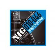 Cordas / Encordoamento Nig N64 Guitarra - .010 - .046