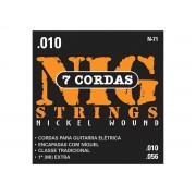 Cordas / Encordoamento Nig N71 Guitarra 7 Cordas .010 - .056