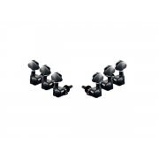 Jogo tarraxa Schaller 3+3 m6 black vint. c/ trava