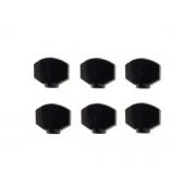 kit cabeça Bottom para tarraxa black - Preto - 6 un