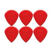 Palheta Jazz Iii - Dunlop Vermelha - Kit C/ 6 Un
