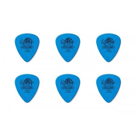 Palheta Tortex 1,0 Mm Dunlop - Kit C/ 6 Un Azul