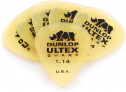 Palheta Ultex Sharp 1,14mm Dunlop - kit com 6