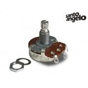 Potenciômetro A500K Santo Angelo base Grande Eixo Longo Volume Guitarra e Baixo