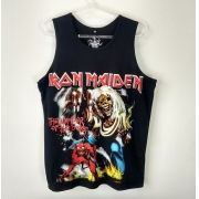 Regata Masculina Iron Maiden The Number Of The Beast Preta