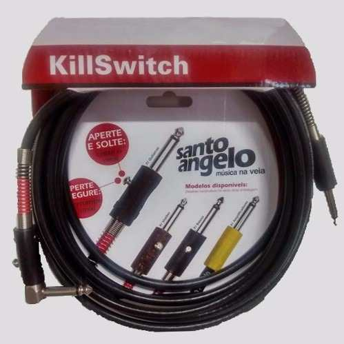Cabo P10 Guitarra Em L Killswitch 10ft 3.05 Mts Santo Angelo