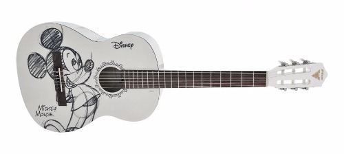 Violão Phx Disney Mickey - Mgr-1 - Branco - Nylon C/ Capa