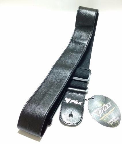 Correia P/ Guitarra Baixo Violao 5cm Preta Top De Linha Phx