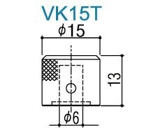 Knob Gotoh Vk15t Metal - Cosmo Black - Unitário - 01 Unidade
