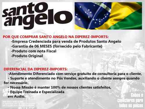Cabo Microfone Santo Angelo Ninja Lw Xlr 4,57 Metros