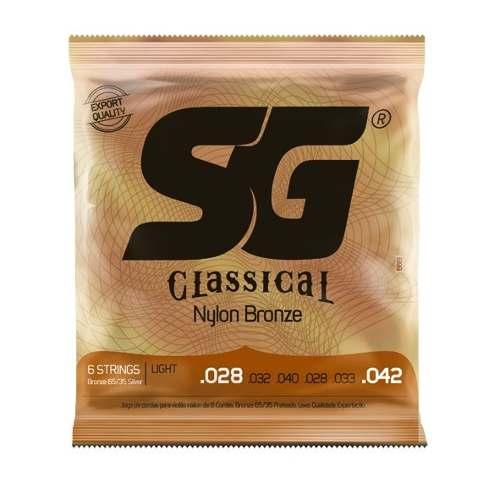 Corda Violão SG Nylon Tensão Leve Classical Bronze 65/35