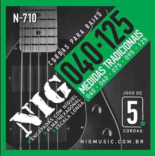 Corda / Encordoamento Nig N710 Baixo - Contrabaixo 5 Cordas