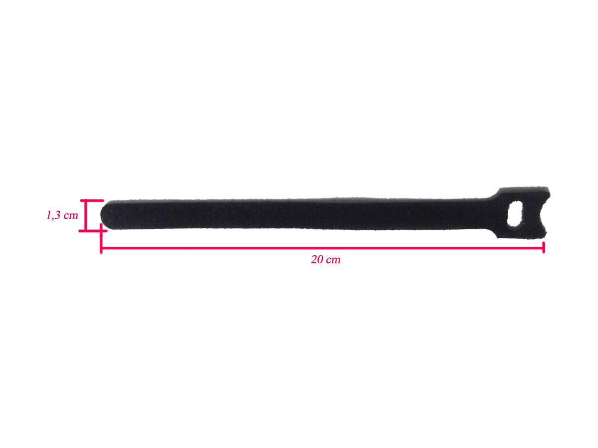 Abraçadeira Autofixavel / Organizador p/ cabo de Instrumento tipo velcr - KIT C/ 10