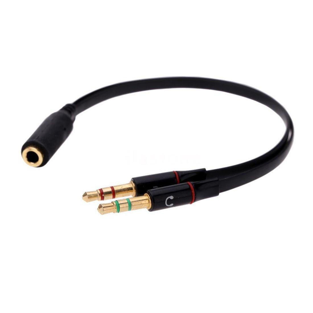 Adaptador P3 Y Divisor Fone e Microfone P2