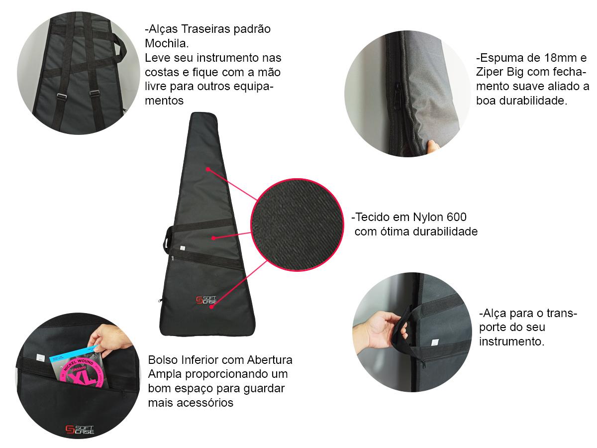 Bag Capa Baixo Contrabaixo Linha Start - Soft Case