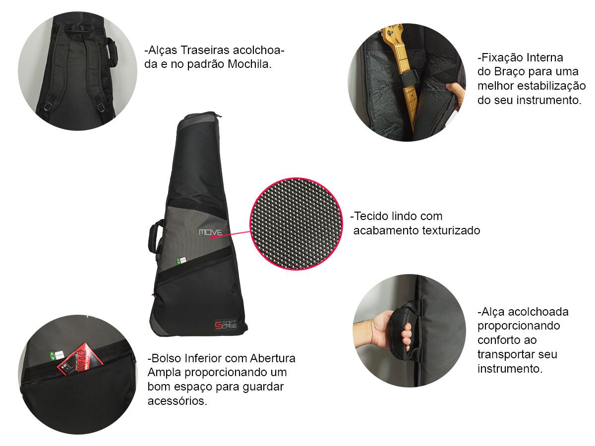 Bag Capa para Guitarra Linha Move Resistente - Soft Case