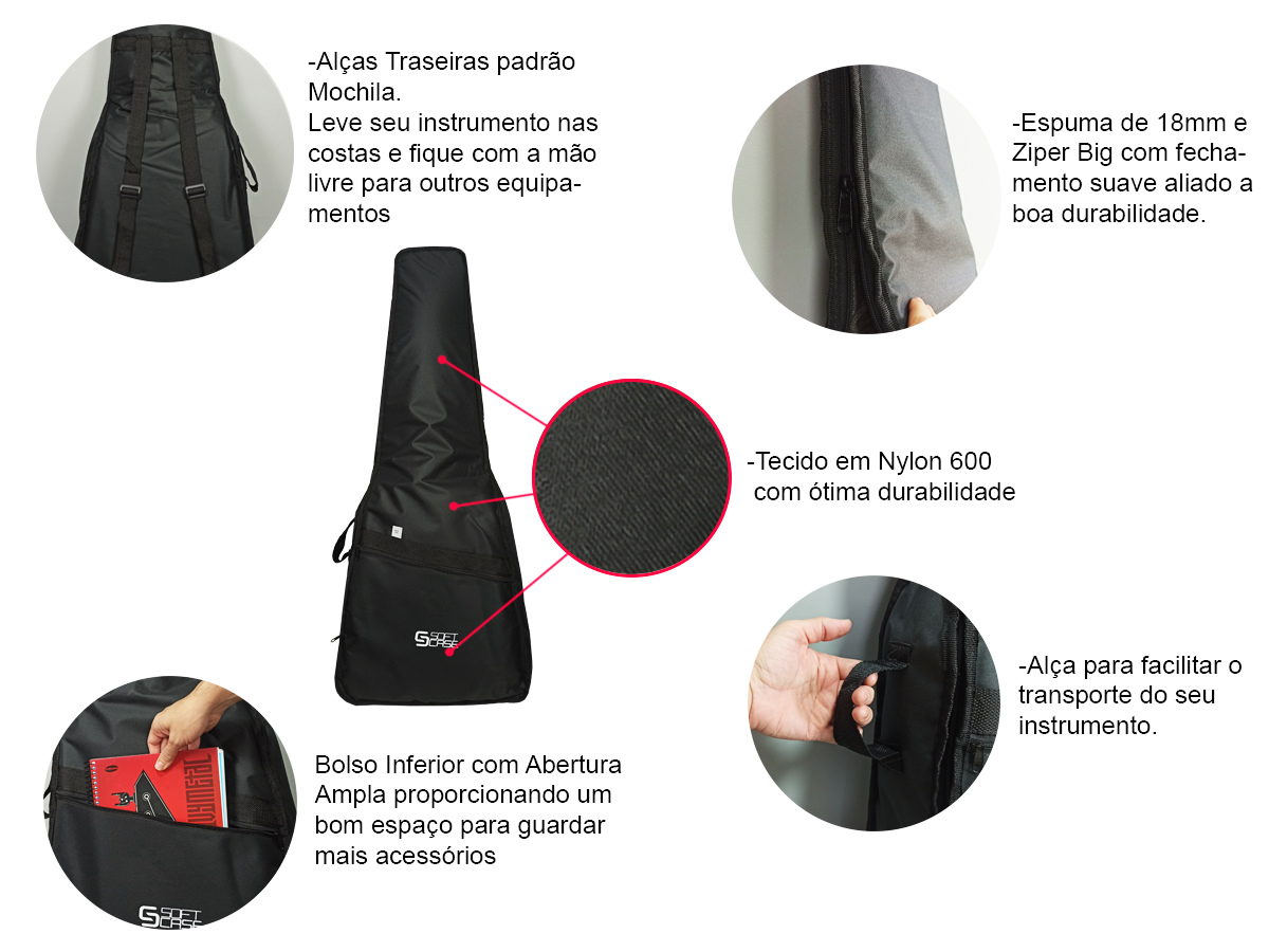 Bag capa para Violão Folk linha Start - Soft Case
