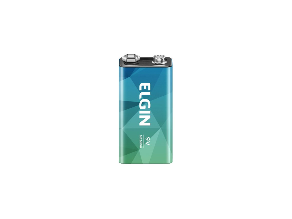 Bateria 9v Alcalina - Pilha de Uso Geral - Elgin