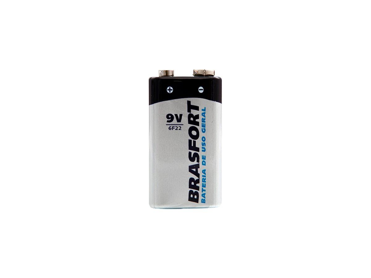 Bateria 9v Pilha de Uso Geral - Brasfort