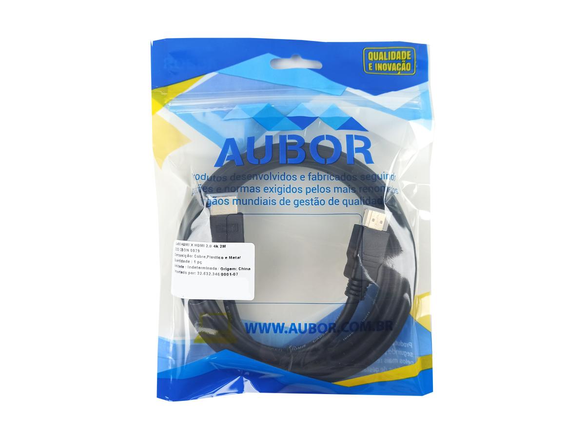 Cabo HDMI 2.0 4k Full HD 60hz monitor e notebook 02 metros