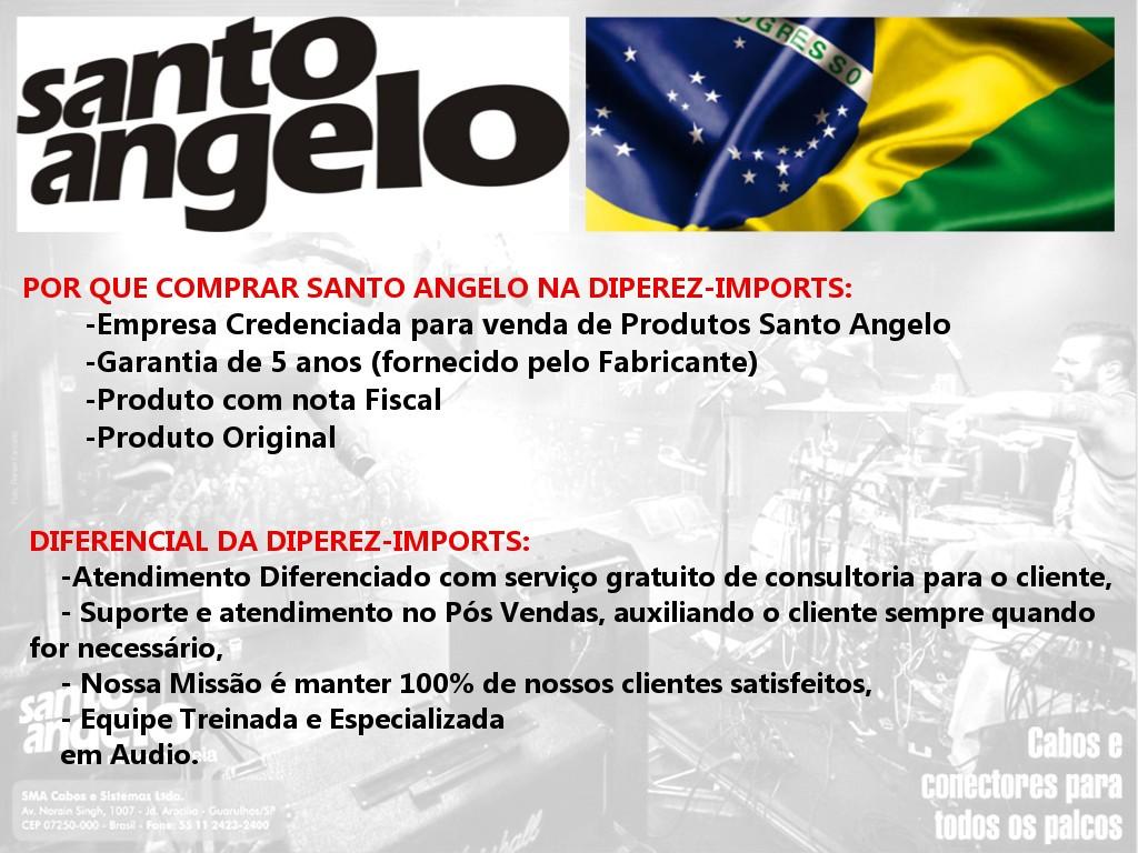 Cabo Killswitch Têxtil P10 / P10 para Contrabaixo Santo Angelo 3,05 / 10 fth