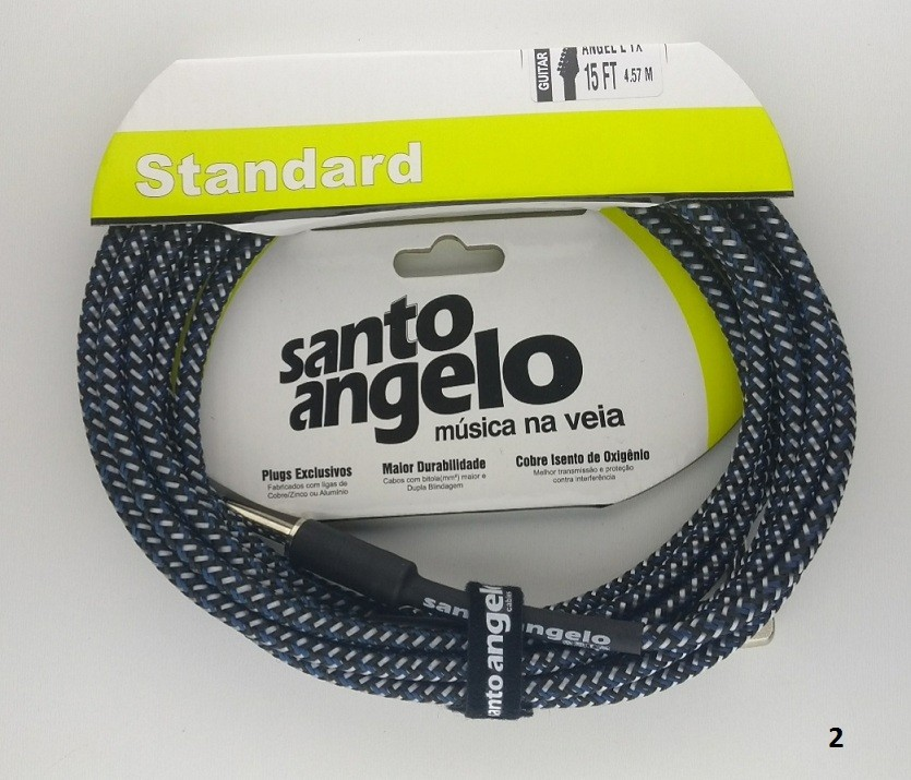 Cabo Santo Angelo Standart Textil 4.57 Cm P10 Guitarra Baixo Violão