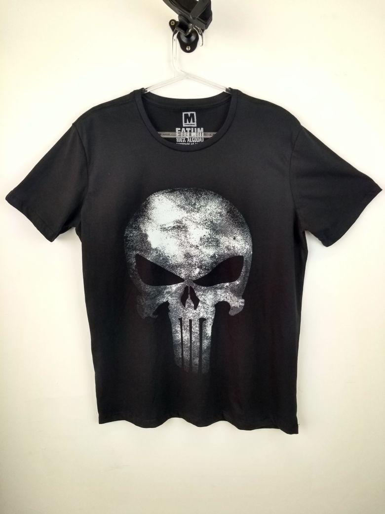Camiseta Caveira Justiceiro Marvel