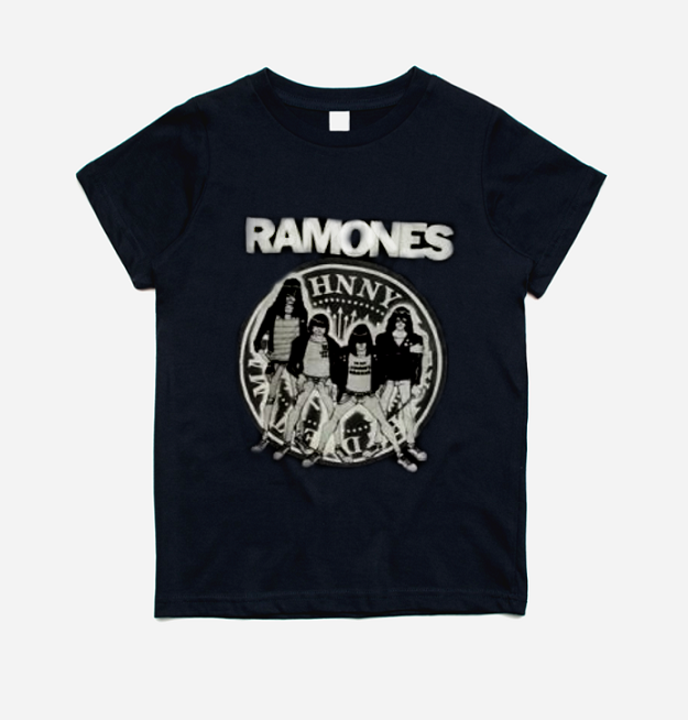 Camiseta Infantil Banda Rock Ramones Preta