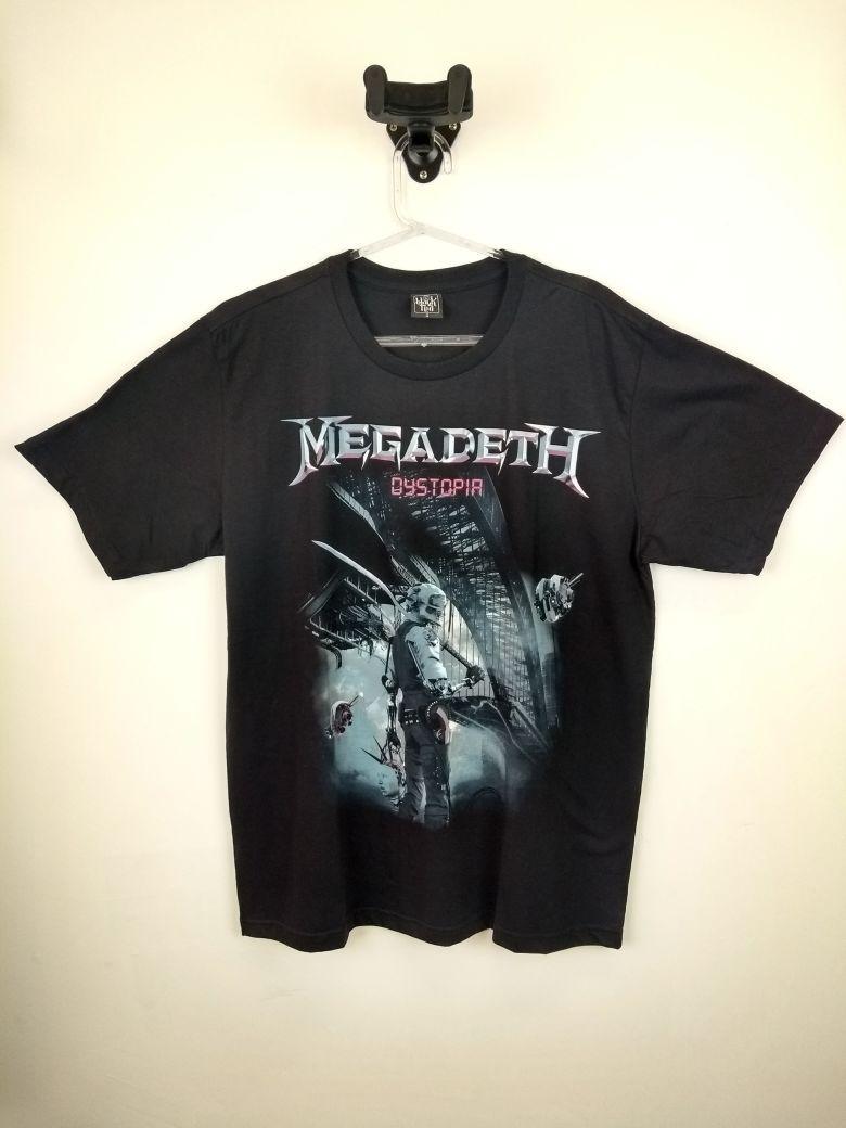 Camiseta Megadeth Dystopia Preta