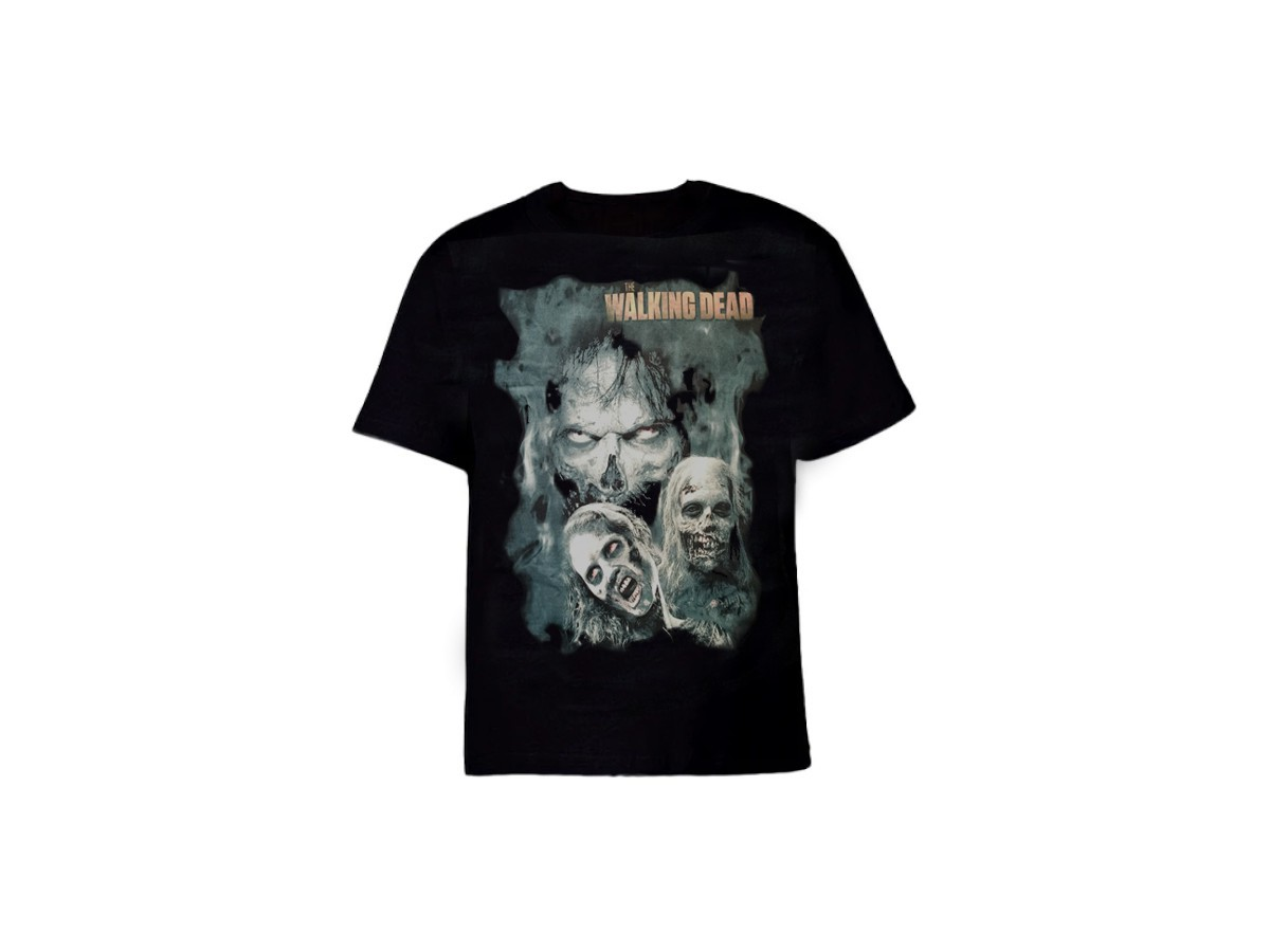 Camiseta The Walking Dead Preta - Caveiras