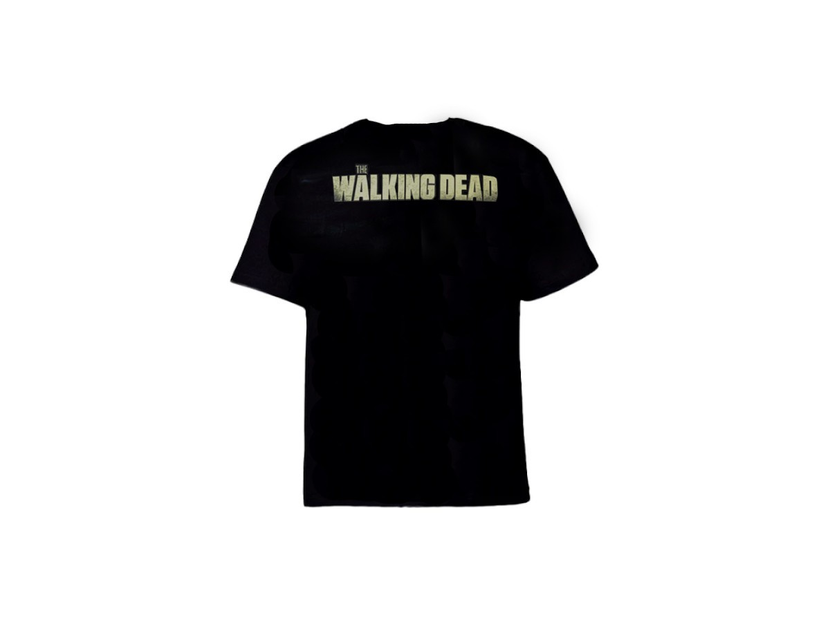 Camiseta The Walking Dead Preta - Caveiras