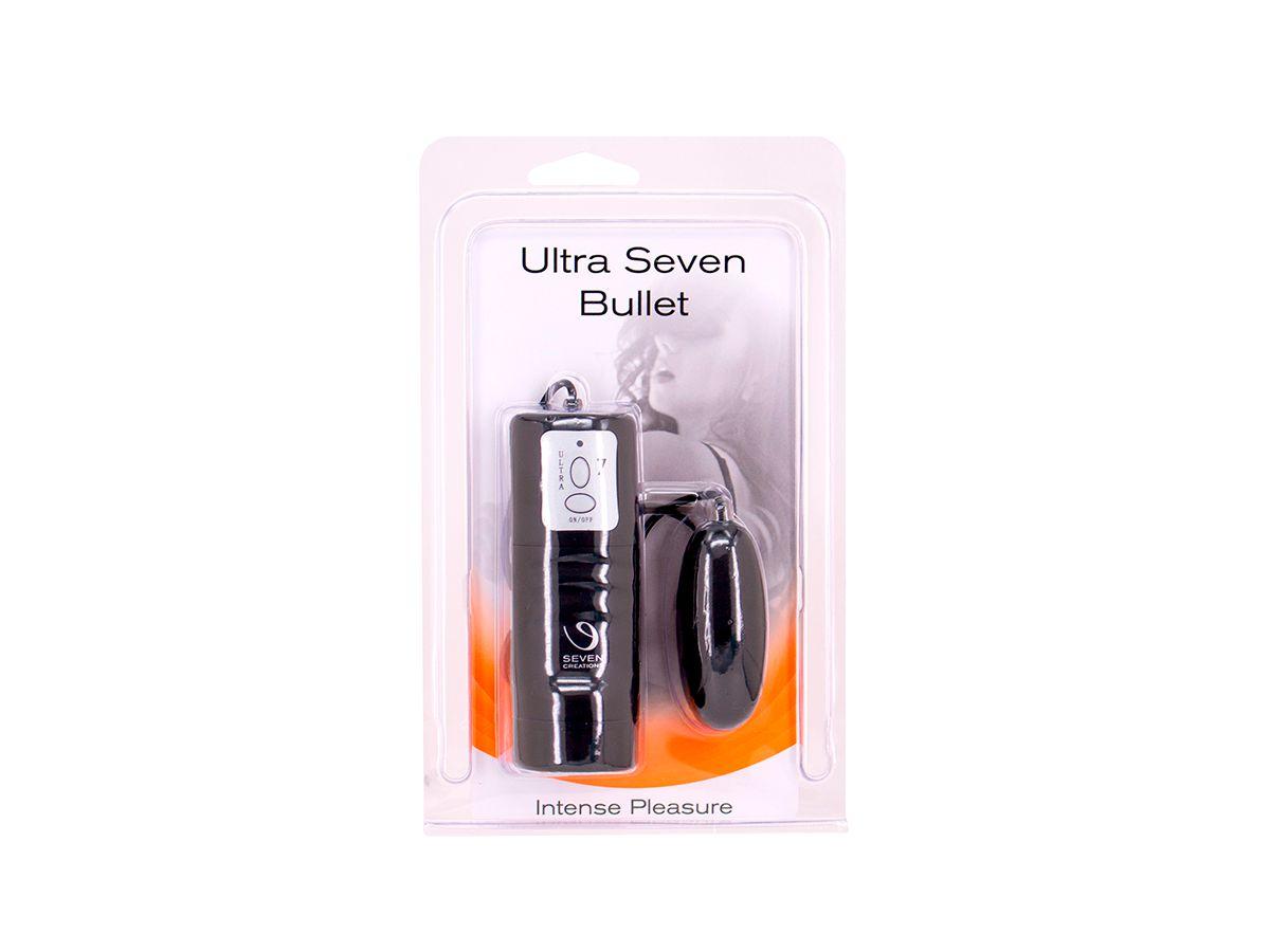 Capsula Vibratória Ultra Seven Bullet - Similar Vector Egg - Preto