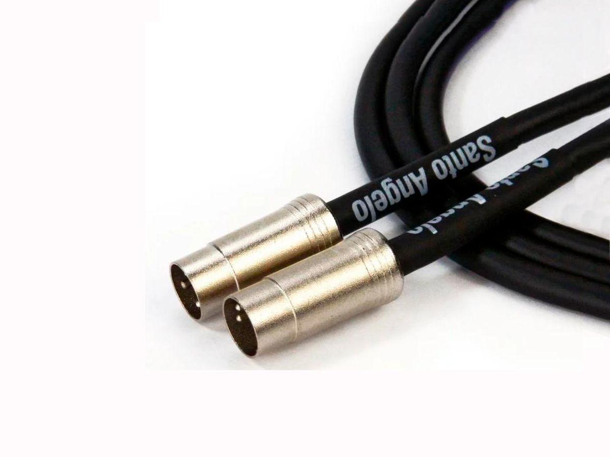 Cabo Midi Santo Angelo 01 metro P/teclado Sampler Bateria Eletrônica Pedaleira