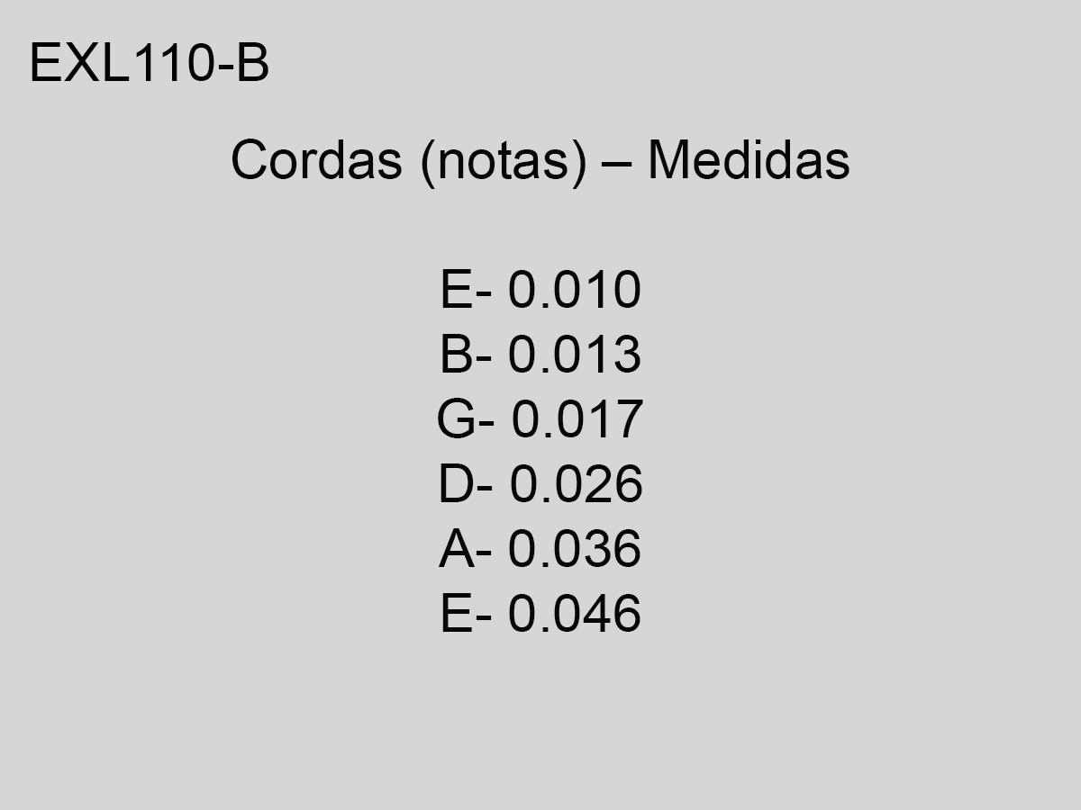 Corda / Encordoamento Guitarra  010 D'Addario Exl110-B 10-46