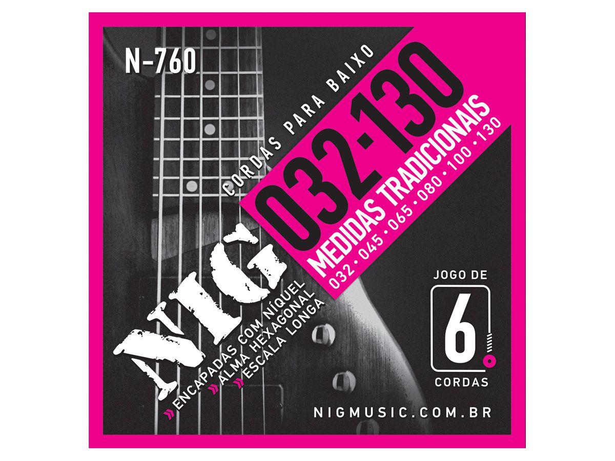 Corda / Encordoamento Nig N760 Baixo - Contrabaixo 6 Cordas
